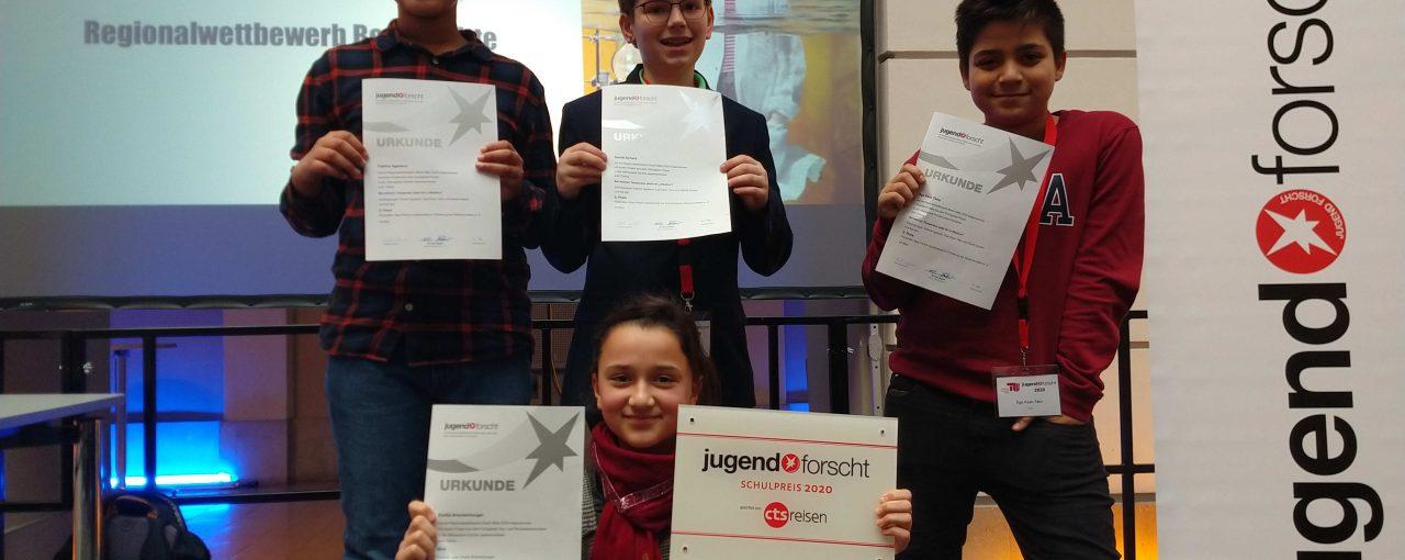 Jugend forscht - wir haben gewonnen!