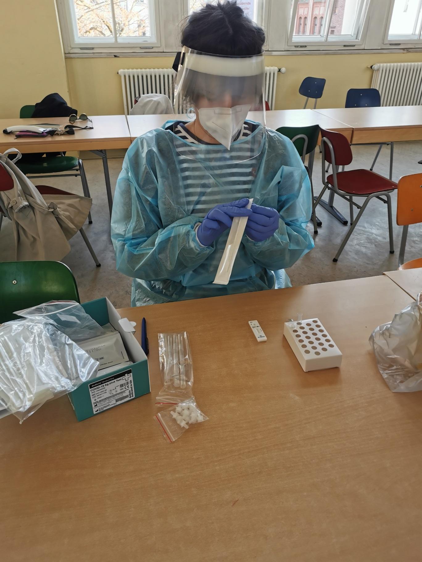 Corona-Testungen für Lehrkäfte an unserer Schule haben begonnen